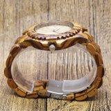 Relógio de pulso de madeira impermeável da face do logotipo feito sob encomenda do OEM
