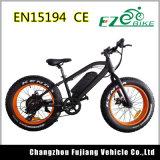 Chinesischer fetter Strand-Kreuzer-elektrisches fettes Fahrrad des Gummireifen-20inch