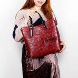 Hochwertige Kuh-Leder-Handtasche des Krokodil-2018 für Frauen