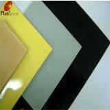 4mm peint en noir / Retour en verre (verre de couleur blanc, noir, vert, bleu, jaune, rose)