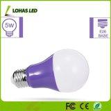 La porpora equivalente viola LED della lampadina 40W del LED scheggia la lampadina di A19 5W con la base E26