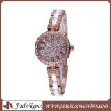 Новый стиль Леди Мода часы на запястье браслет из нержавеющей стали смотреть