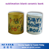 Gute Qualitätsleerzeichen-Sublimation-überzogenes Drucken-keramischer Piggy Bank-Becher