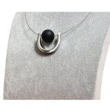 De u-vormige Tegenhanger van de Parel van de Steen Zwarte voor de Juwelen van de Halsband van de Draad van Vrouwen