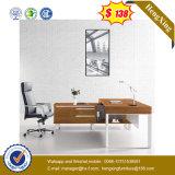 Silver Painting Modesty Panel Veneer Top Bureau de bureau exécutif (HX-G0451)