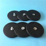 Ímãs revestidos de borracha do potenciômetro do Neodymium do potenciômetro magnético de D88mm para pendurar