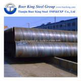 La spirale d'ASTM A53 gr. B a soudé la pipe en acier de diamètre de 1000mm