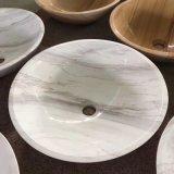 Baumaterial-Wäsche-Bassin-Küche-weiße Marmorwanne