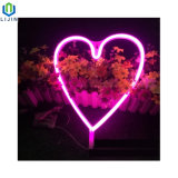 Светодиодные неоновые лампы большие сердца Декоративная светодиодная лампа