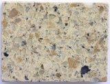 Pedra artificial branca pura de quartzo das boas lajes Polished da superfície de quartzo