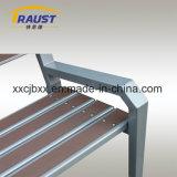Banco al aire libre del asiento de la silla del material WPC del plástico de madera y del arrabio