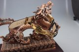 Nuova giada di lusso e vigilanza reale della manopola dell'oro con la cinghia della giada