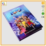 Stampa rilegata del libro di bambini di caso nel colore completo