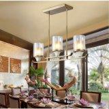 Lámpara pendiente de la vela elegante del marco de la lámpara del metal