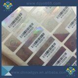 Número de código de barras QR Code Holograma de la garantía de seguridad