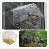 Kundenspezifische hängende Vogel-Wasser-Acrylzufuhr auf Fenster-Glas