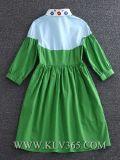 Vestito casuale dal cotone della donna di modo di estate