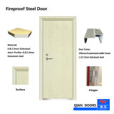 BS/Ceによって証明される鋼鉄ドアが付いている2018熱い販売の耐火性のドア