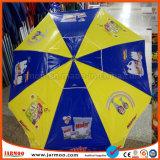 Livrar o guarda-chuva relativo à promoção do parasol da impressão de seda do projeto