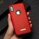 À prova brilhante 2 em 1 caso de telefone de protecção híbrido para iPhone x