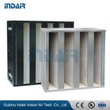 V-Banco filtro de aire HEPA para caja rígida sistema HVAC