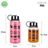 Мода стекла устройства спорта поездки бутылка воды с логотип