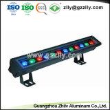 LED Wallwasher를 위한 공장 까만 선형 알루미늄 단면도
