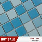 Mosaico cerâmico azul para a piscina
