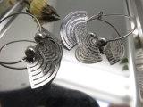이집트 여왕 장례를 위한 인종 Fan-Shaped 귀걸이 제조자는 보석을 반대한다