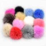 Cappello reale promozionale Keychain sveglio del Pompom della pelliccia della sfera della pelliccia di Fox