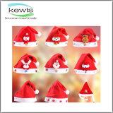Regalo promocional 32,5*25 cm de estilo de los niños de la luz de Navidad Hat