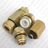 Wasserdichter Aliminum CATV Hardline Qr500 3-Piece Pin-Verbinder-Kabel-Kabel-Verbinder