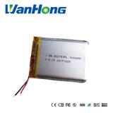 3.7V de Batterij van het Lithium 663750pl 1400mAh voor GPS