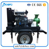Agricultura e do motor diesel da bomba de água de irrigação com a venda do Reboque