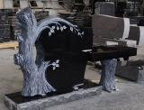 インドの黒い花こう岩の米国式の木の形記念碑及び墓碑のベンチ