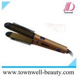 Cheveu en céramique professionnel redressant le cheveu de matériel de salon de redresseur de balai et de cheveu corrigeant le fer avec le peigne