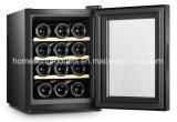 12Termoeléctrica botellas enfriador de vino, con soportes de madera