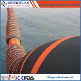Boyau de dragage de flottement à flasque marin en caoutchouc d'aspiration et de débit