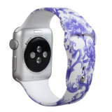 Bande de silicone OEM Smart Iwatch pour Apple attache en caoutchouc