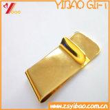 La coutume Plat des clips d'argent bon marché en métal d'or