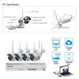 Hogar Inteligente 4CH 720p Kit de NVR inalámbrico con pantalla LCD
