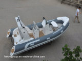 Console centrale de côte de Liya 17FT de bateau de bateaux gonflables rigides de luxe de Hypalon