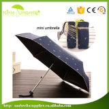 多彩な印刷を用いる卸し売り極度の小型5つのフォールドの傘