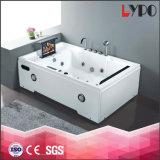 Vasca da bagno TV, vasca da bagno indipendente per due persone di massaggio del getto dell'aria, vasca da bagno di massaggio K-8867 dell'Italia della fabbrica