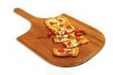 Goedkoop Houten Bamboe om Pizza die Scherpe Raad met Handvat dienen