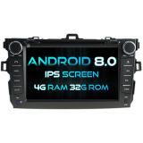 Witson Acht Androïde 8.0 Auto van de Kern DVD voor IPS van ROM van het Scherm van de Aanraking van ROM 1080P van de Bloemkroon van Toyota 4G 32GB het Scherm