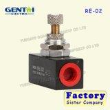 Клапан регулирования потока Re серии односторонний, клапаны дросселя, пневматическая модулирующая лампа воздуха