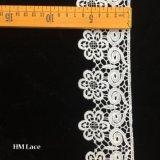 7cm Lacetrim 의 미색 수용성 수를 놓은 레이스 손질, Retro 수를 놓은 레이스 손질, Wedding 레이스 Purfle Hmhb656