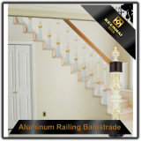 Pasamanos de la escalera de la decoración interior del acero inoxidable de la alta calidad