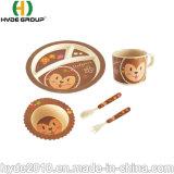 BioComposable Eco Bambusfaser-Cup-Filterglocke-Plastiklöffel-Gabel-Platten-Faser-Essgeschirr-Set